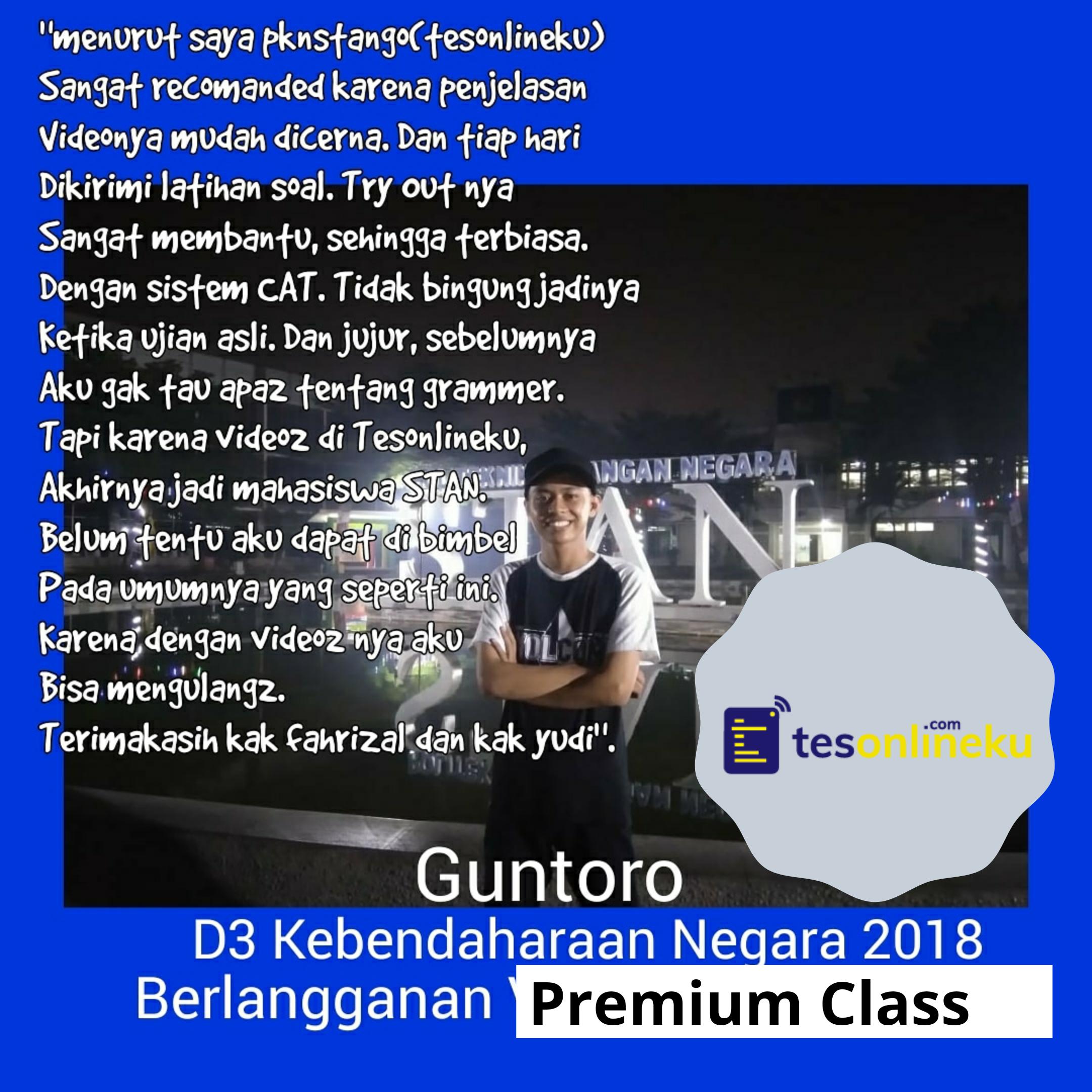 Guntoro (Lulus D3 Kebendaharaan Negara)